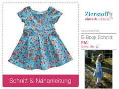 "Jerseykleid ""PIA"", Gr. 110-152, E-Book & Schnitt (ook in 62-104 - 6.50euro"