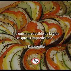 """""""Lo único predecible de la vida es que es impredecible"""". - Ratatouille  #ADV #frases #movies #inspiración #instafood"""