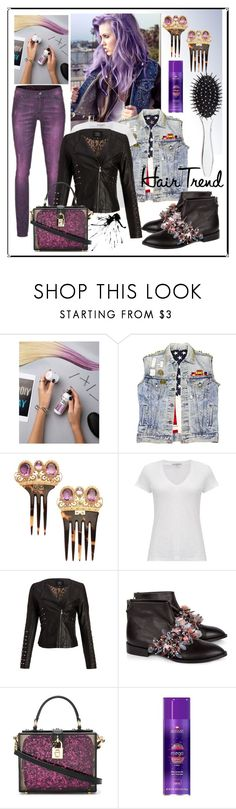 """Sweet Like Candy To My Soul 🍬"" by mavinex-de-nova ❤ liked on Polyvore featuring beauty, L'Oréal Paris, Camouflage Couture, James Perse, Anouki, Dolce&Gabbana, New Look, hairtrend and rainbowhair"