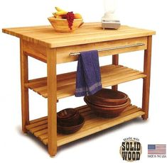 Contemporary Harvest Table Kitchen Island