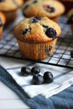 Browned butter blueberry corn muffins. Happening tomorrow.