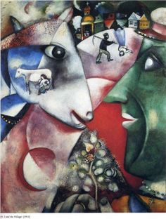Marc Chagall y su vision del campo ,la agricultura y la ganaderia.....demasiado LIGHT para el SOVIET