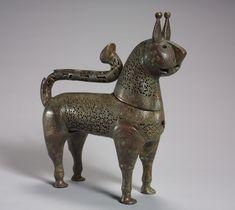 Lion Incense Burner, 1000-1100 Iran, Khurasan, Seljuk Period, 11th-12th century