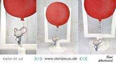Maus mit Riesenballon | interaktive Karte von Reni @Kartenwind für www.danipeuss.de