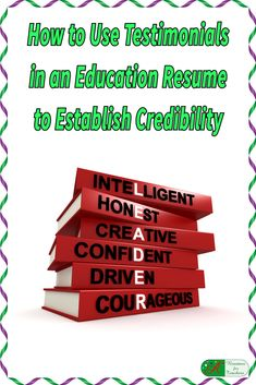 How to Use Testimonials in an Education Resume to…