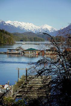 Beautiful blue sky Tofino Vancouver Island Canada