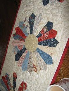 Red, white, blue dresden   Some of my favorite fabrics!  Prairie Paisley!!!