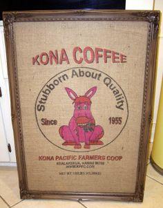 Large  Magnetic Board Vintage  BURLAP COFFEE SACK by cdmdesign, $189.00