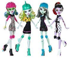 The New Monster High Dolls 2012 - roller derby dolls