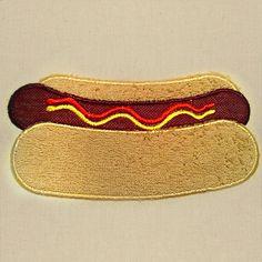 Hot Dog Applique Embroidery Design