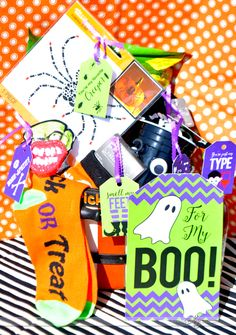 To My BOO: Halloween Gift Basket for Husband or Boyfriend.  LOVE!!!