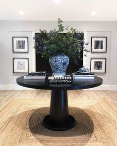 Had a little faff down here and this vase and floral display from makes me smile so much every time I look at it. The faux blueberries… Dream Living Rooms, Decor, Home Decor Inspiration, Bed In Living Room, House Inspiration, Hallway Table Decor, Floral Display, Hallway Designs, Vase