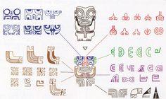 Patterns derived from the face of Tiki - Modern 1 Tattoo, Samoan Tattoo, Cover Tattoo, Arm Band Tattoo, Polynesian Art, Polynesian Tattoo Designs, Maori Tattoo Designs, Elephant Tattoos, Tribal Tattoos