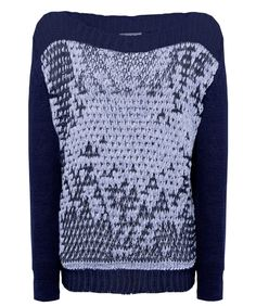 7b65f078db Buy Crea Concept Pebble Knit Jumper Colour  Blue   Navy from luxury  boutiques at Atterley today.