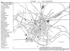 1900. Ulpiano Bertiz y Ferrando. Probablemente para una guía del viajero de Salamanca, que nunca llego a publicarse. Maps, Cities