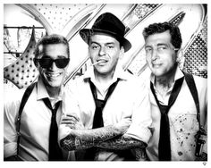 Rat Pack Tattoo by JJ Adams - Limited Edition Dean Martin, Joey Bishop, Fake Images, Peter Lawford, Buddha Tattoos, Jerry Lewis, Malcolm X, Junior, Black And White Pictures