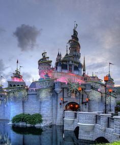 Disneyland, Hong Kong. I love how all the international Disneyland's have such unique style!!