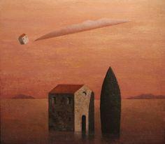 Matthias Brandes, Solitudine 4, 2015, oil and tempera on canvas, 80 x 90 cm #contemporary #art #painting