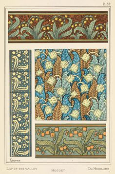 Aline Poidevin Art Nouveau Illustration – Lily Of The Valley ...