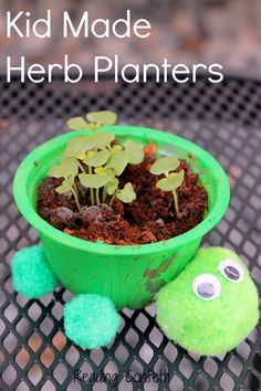 47 Incredibly Fun Outdoor Activities for Kids - Turtle Herb Planter #hobbycraft