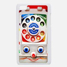 vintage retro toy dial phone apple ipod 4 4g touch case, US $16.89