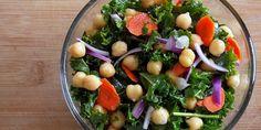 Raw Kale & Garbanzo Salad w/Spicy Citrus Vinaigrette