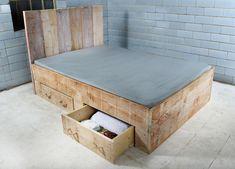 Bett mit Bettkasten im Landhausstil REDON von JOHANENLIES auf DaWanda.com