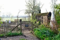 A beautiful kitchen garden in the Netherlands.