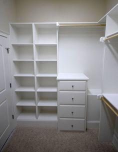 Master closet. build shelves. So much nicer than my current shelves. Bianca@itti