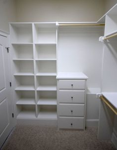 Master closet. build shelves. So much nicer than my current shelves. Bianca@itti