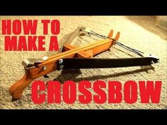 How to Make a Reverse Draw Home-Defense Crossbow. There are different parts that are needed to make a whole. Look at things differently.
