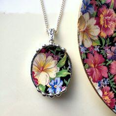 Cassé la Chine Bijoux Collier pendentif par dishfunctionldesigns