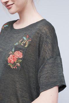 Embroidered Petal Tee