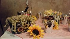 Decorate by design event planner Casper Wyoming candy bar for country themed wedding