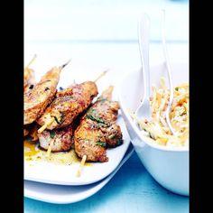 Brochettes tandoori et légumes croquants