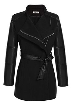 Regina: Zeagoo Women's Mid Length Fitted Pu Leather Sleeves Wool Blend Trench Coat Jacket Zeagoo http://www.amazon.com/dp/B017BEIW0C/ref=cm_sw_r_pi_dp_S8G9wb0F4HXD3