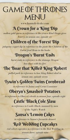 of thrones party food How to Throw A Game of Thrones Viewing Party — Hannah Drake Game Of Thrones Food, Game Of Thrones Decor, Game Of Thrones Locations, Game Of Thrones Party, Game Of Thrones Quotes, Game Of Thrones Funny, Game Of Thrones Costumes, Game Of Thrones Birthday, Got Party