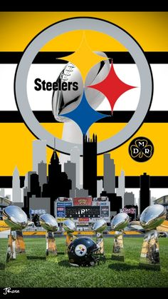 Pittsburgh Steelers Wallpaper, Pittsburgh Steelers Football, Pittsburgh Sports, Pitsburgh Steelers, Here We Go Steelers, Shark Logo, Steeler Nation, Nfl Logo, Steel Curtain