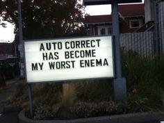 Damn auto-correct