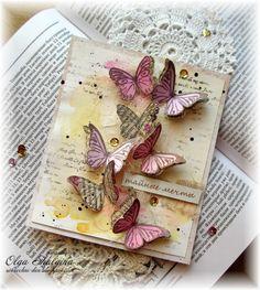 Солнечный день...: Тайные мечты. Новая открыточка с акварельным фоном.