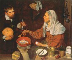 Diego Rodriguez de Silva y Velazquez, An Old Woman Cooking Eggs, 1618 © Scottish National Gallery, Edinburgh Bridgeman Images