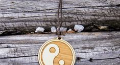 Halskette Yin Yang     GUFRU Yin Yang, Pendant Necklace, Christmas Ornaments, Holiday Decor, Jewelry, Neck Chain, Xmas Ornaments, Jewlery, Jewels