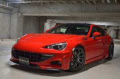 Red Subaru BRZ