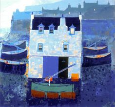 View all George BIRRELL art, paintings and contemporary Scottish art at the Red Rag art gallery Contemporary Artists, Modern Art, Abstract Format, Building Sketch, Glasgow School Of Art, Fish Art, Teaching Art, Landscape Art, Art Gallery