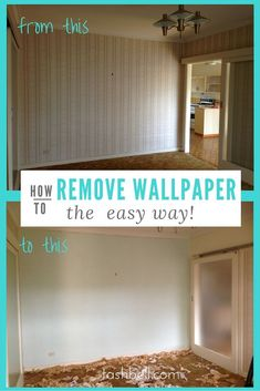 Gently Peel Back on Wallpaper to Remove