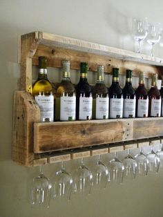 Wine Rack Reclaimed Pallet Wood Pallet Wine by JNMRusticDesigns, $85.00