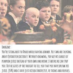 Imagine it was Hermione Draco Malfoy Imagines, Harry Potter Imagines, Draco And Hermione, Harry Potter Puns, Harry Potter Feels, Images Harry Potter, Harry Potter Draco Malfoy, Harry Potter Actors, Harry Potter World