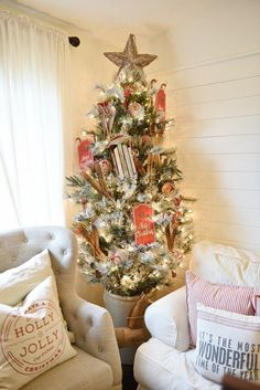 Cozy Cottage Christmas Living Room Tour This Rustic Cottage