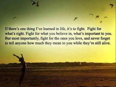 If There's One Thing I've Learned In Life, It's To Fight