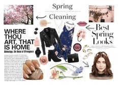 Spring in city by kartavenko on Polyvore featuring River Island, MANGO, Carbon & Hyde, LOFT, Jennifer Behr, Furla, Gucci, Forever 21, Yves Saint Laurent and H&M